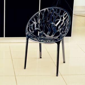 Ashley Furniture Siesta Outdoor Crystal Modern Dining Chair Transparent Smoke Gray (Set of 2), Transparent Gray