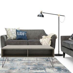 Ashley Furniture Simpli Home Hunter Solid Mango Wood Rectangular Lift Top Coffee Table, Gray