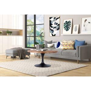 "Ashley Furniture Gideon Gideon 36"" Round Reclaimed Wood and Metal Pedestal Coffee Table, Brown"