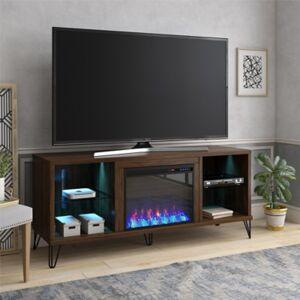 Ashley Furniture Novogratz Concord Fireplace TV Stand, Walnut