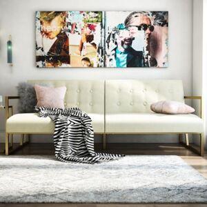 Ashley Furniture CosmoLiving by Cosmopolitan Lexington Futon, Ivory
