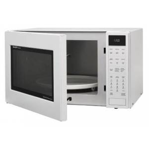 Ashley Furniture Sharp 1.5-Cu. Ft. 900W Convection Microwave Oven, White