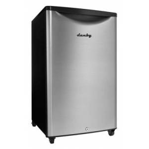 Ashley Furniture Danby Outdoor 4.4-Cu. Ft. Compact All-Refrigerator with Spotless Steel Door, Silver