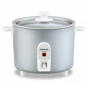 Ashley Furniture Panasonic 1.5-cup Mini Rice Cooker with Glass Lid, Silver, Silver