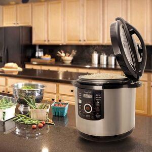 Ashley Furniture Megachef 12 Quart Pressure Cooker, Silver/Black