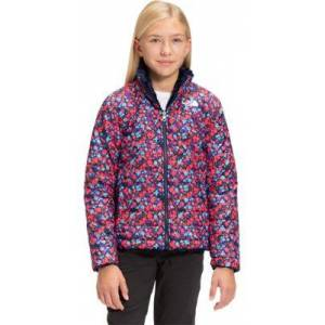 The North Face Mossbud Swirl Reversible Jacket for Girls - Paradise Pink Wildflowers - M