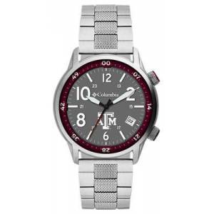 Columbia Outbacker Collegiate 3-Hand Stainless Steel Bracelet Watch - Texas A&M University