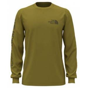 The North Face TNF Sleeve Hit Long-Sleeve Shirt for Men - Matcha Green - M