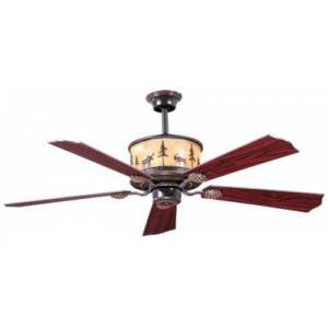 Vaxcel Lighting Yellowstone 56'' Ceiling Fan with Amber Flake Glass