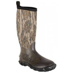 Drake Waterfowl Systems Knee High Mudder 2.0 Rubber Boots for Men - Mossy Oak Bottomland - 13M