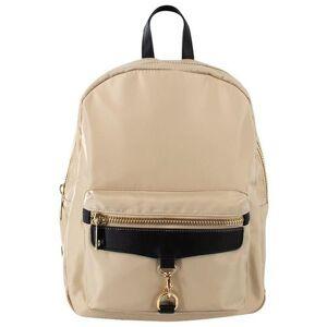 Olivia & Kate Solid Zippered  Backpack -Beige