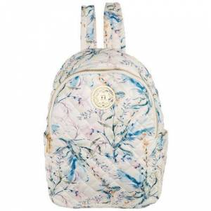 Nanette Lepore Washable Quilted Floral Backpack -White