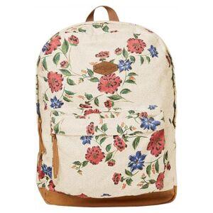 Cotton Floral Backpack -Beige