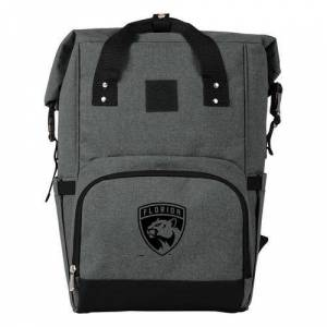 Florida Panthers On The Go Roll-Top Cooler Backpack -