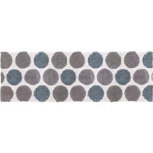 Avanti 24 x 60 Dotted Circles Bath Rug -Blue/Grey/Multi/White