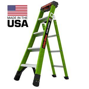 Little Giant Ladder Systems Little Giant Ladders King Kombo Pro Fiberglass 5' Ladder