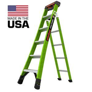 Little Giant Ladder Systems Little Giant Ladders King Kombo Pro Fiberglass 6' Ladder