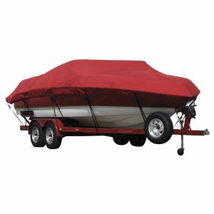 Covermate Exact Fit Covermate Sunbrella Boat Cover for Maxum 2200 Sr3 2200 Sr3 Br Covers Int. Platform I/O. Red