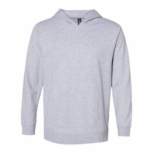 Anvil - Unisex Lightweight Terry Hooded Pullover - 73500 - Heather Grey - 2X-Large