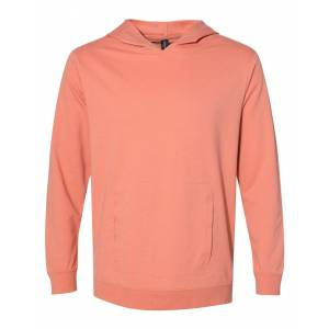 Anvil - Unisex Lightweight Terry Hooded Pullover - 73500 - Terracotta - 2X-Large
