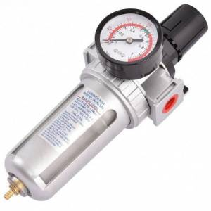 Costway Air Pressure Regulator Filter Water Separator with Pressure Gauge