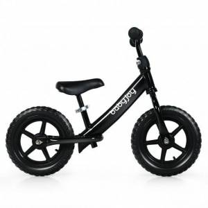 """Costway 12"""" Kids Balance No-Pedal Ride Pre Learn Bike with Adjustable Seat-Black"""