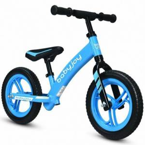 "Costway 12"" Kids No-Pedal Balance Bike with Adjustable Seat-Blue"