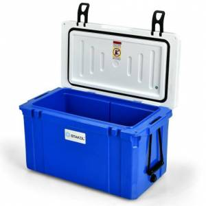Costway 58 Quart Leak-Proof Portable Cooler Ice Box for Camping-Blue
