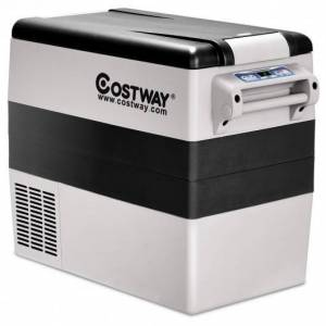 Costway 55-Quarts Portable Thermoelectric Electric Car Cooler Refrigerator for Beverage