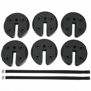 Costway 6pcs Weight Plates Patio Canopy Tent Gazebo Shade Umbrella Water Filled