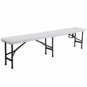Costway 6 Inch Portable Folding Plastic Picnic Bench with Lockable Legs