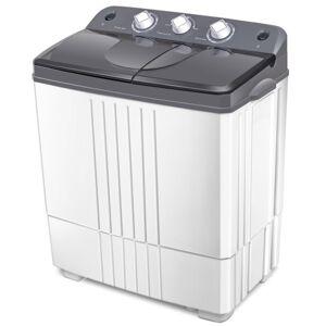Costway Portable Semi-Automatic Twin-tub Portable Mini Washing Machine