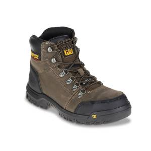 Caterpillar Outline Steel Toe Work Boot   Men's   Dark Brown   Size 14   Boots   Lace-Up