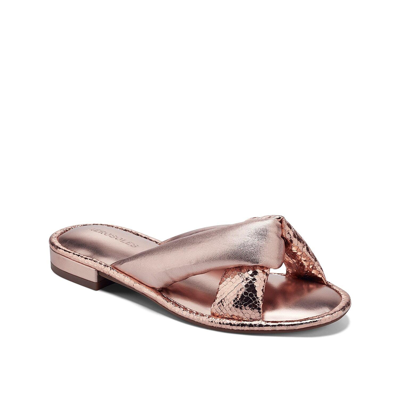 Aerosoles Jordan Sandal   Women's   Rose Gold Metallic   Size 6.5   Sandals   Flat   Slide