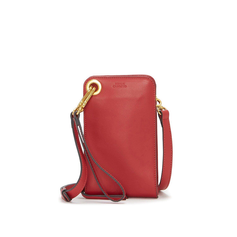 Lani Leather Phone Crossbody Bag   Women's   Red   Size One Size   Handbags   Crossbody   Shoulder Bag