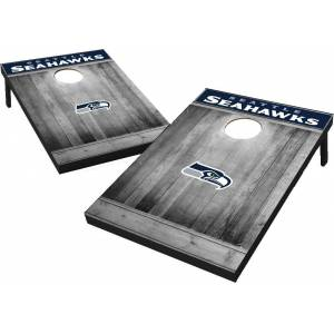 Wild Sports Seattle Seahawks Grey Wood Tailgate Toss