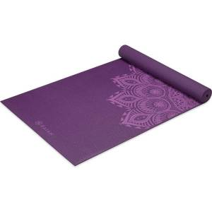 Gaiam 6mm Premium Print Yoga Mat, Purple
