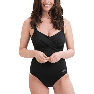Dolfin Women's Aquashape Drape Front Swimsuit, Size 14, Black