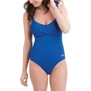Dolfin Women's Aquashape Drape Front Swimsuit, Size 14, Blue