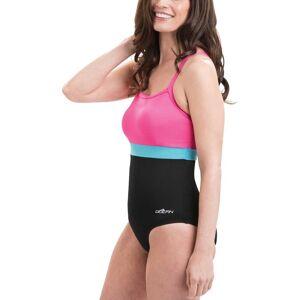 Dolfin Women's Aquashape Colorblock X-Back Swimsuit, Size 14, Black