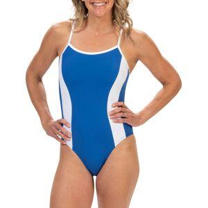 Dolfin Women's Aquashape Straight Back Moderate Lap One Piece Swimsuit, Size 14, Blue