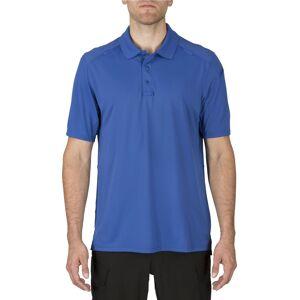 5.11 Tactical Men's Helios Short Sleeve Polo, Medium, Academy Blue