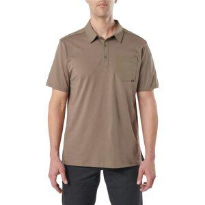 5.11 Tactical Men's Helios Short Sleeve Polo, Small, Gray