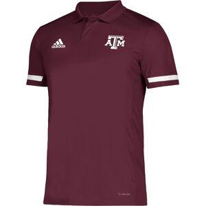adidas Men's Texas A&M Aggies Maroon Team 19 Sideline Football Polo, Small, Red