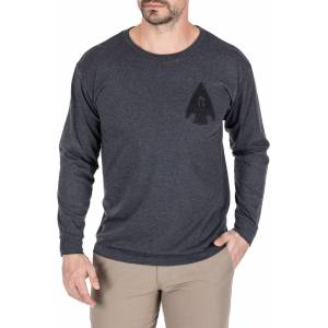 5.11 Tactical Men's Spartan Arrowhead Long Sleeve T-Shirt, Small, Charcoal Heather