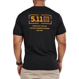 5.11 Tactical Men's Mission 2.0 T-Shirt, XXL, Black