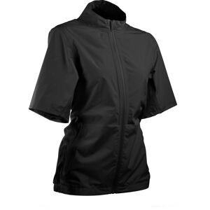 Sun Mountain Women's Monsoon Short Sleeve Golf Jacket, XL, Black