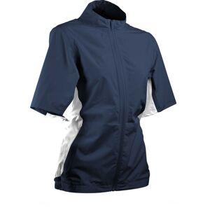 Sun Mountain Women's Monsoon Short Sleeve Golf Jacket, XL, Blue