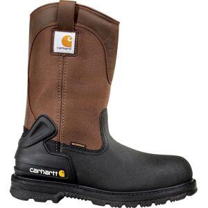 Carhartt Men's 11'' Mud Wellington Waterproof Steel Toe Work Boots, Black/Brown