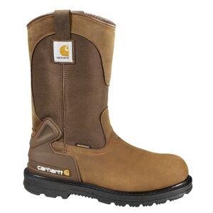 Carhartt Men's Bison 11'' Waterproof Work Boots, 8.5 WIDE, Bison Brown Oil Tanned
